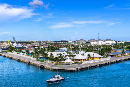 Bay of Water in Freeport City, Grand Bahama, Bahamas