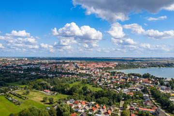 Die Stadt Prenzlau in der Uckermark direkt am Uckersee