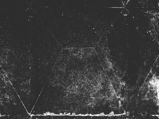 Distress old cracked concrete vector texture. Black and white grunge background. Stone, asphalt, plaster, marble. Fototapete