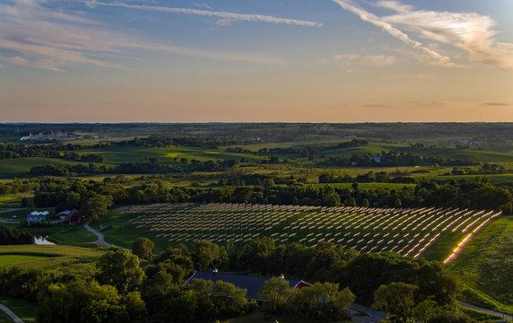Evening overlooking the solar farm