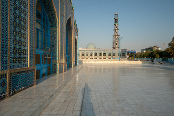 Blue Mosque in Mazar-e Sharif, Afghanistan (Shrine of Hazrat Ali)