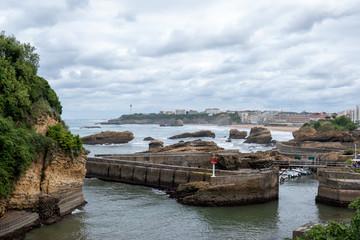 Biarritz, Basque Country in atlantic ocean - France G7 summit