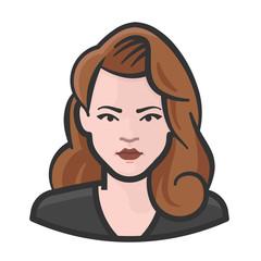 big hair redhead woman avatar icon