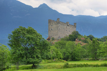 Ussel Castle in Aosta valley, Italy