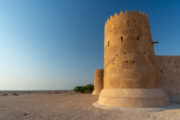 One of the towers of the Al Zubarah fort, Qatar Wall mural