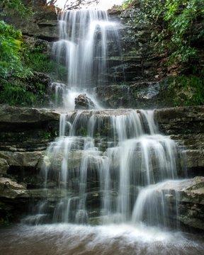 Majestic Waterfall on Barton Creek Greenbelt in Austin TX