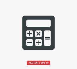 Calculator Icon Vector Illustration