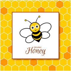 Honig Flyer Design Vorlage