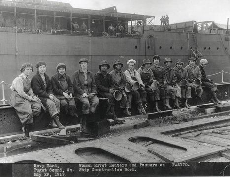American women shipbuilders during World War 1. May 29