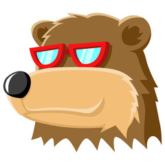 Bear Head Cartoon