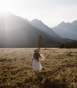 woman in grand teton national park