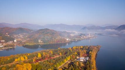Papiers peints Saumon Autumn of Nami island,Seoul Korea