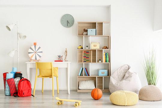 Interior of modern children's room
