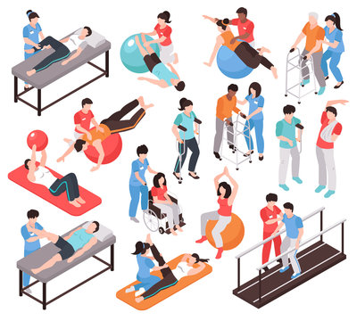 Isometric Rehab People Icons
