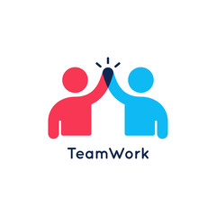 Teamwork concept logo. Team work icon on white