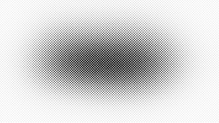 Black and white retro comic pop art background with haftone dots design. Vector clear template for banner or comic book design, etc