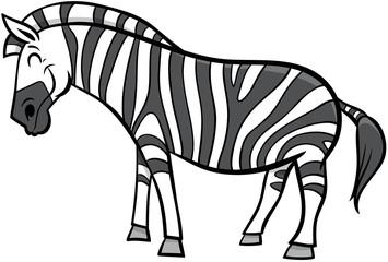 zebra cartoon animal character illustration