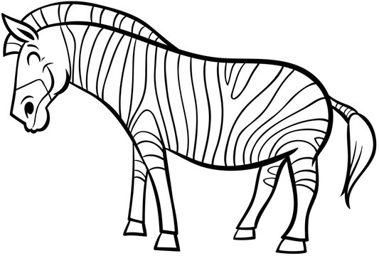 zebra cartoon character coloring page