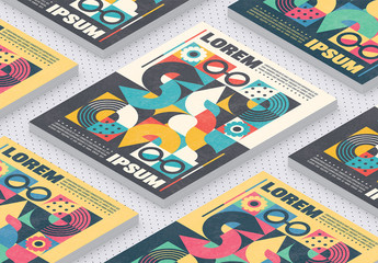 Abstract Geometric Cover Poster Layout