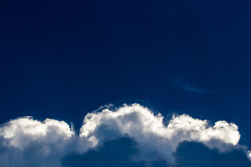 Heavy clouds with clear blue sky before storm