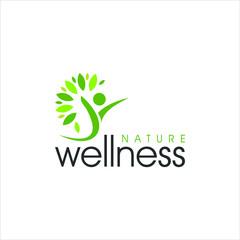 modern vibrant nature green wellness logo design idea