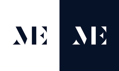 Abstract letter ME logo. This logo icon incorporate with abstract shape in the creative way.