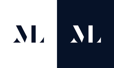 Abstract letter ML logo. This logo icon incorporate with abstract shape in the creative way.
