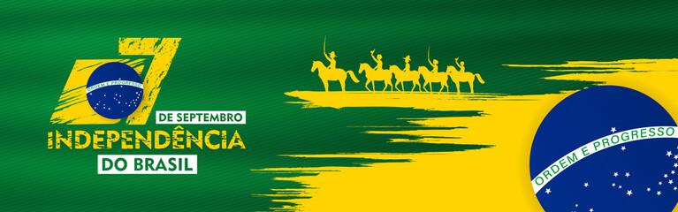 7 de setembro, independencia do brasil, (translation : 7  September, Independence Day of Brazil), Billboard, Poster, Social Media, Greeting Card template vector Illustration Fototapete