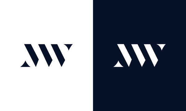 Abstract letter MW logo. This logo icon incorporate with abstract shape in the creative way.