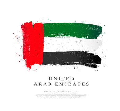 UAE flag. Vector illustration. Independence Day.