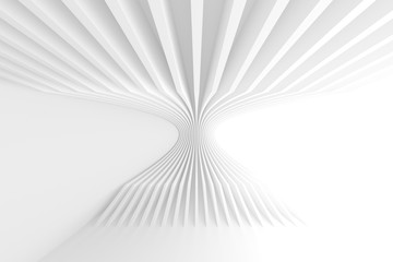 Fotobehang - White Circular Building. Geometric Graphic Design