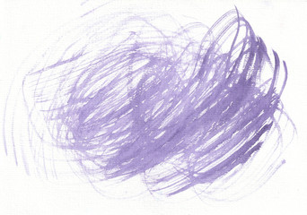 Spiral of purple color, painted with watercolors