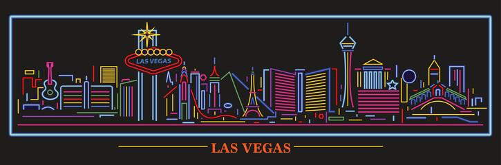 Wall Mural - Las Vegas Nevada neon skyline