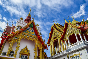 Lahan Temple, Bang Bua Thong, with the main Buddha image in the chapel is the Sukhothai Art Buddha image.