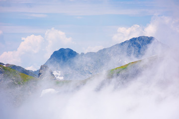 stunning scenery of clouds in mountains