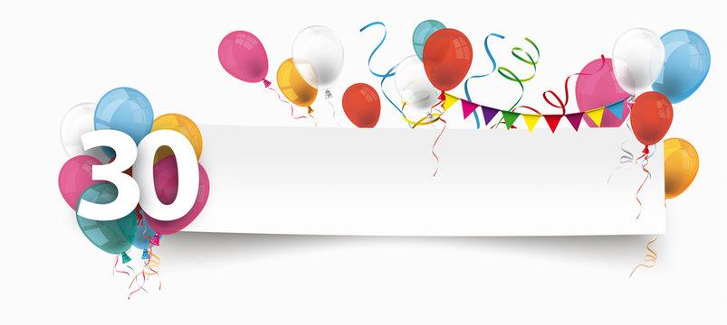 Alles Gute zum 30. Geburtstag