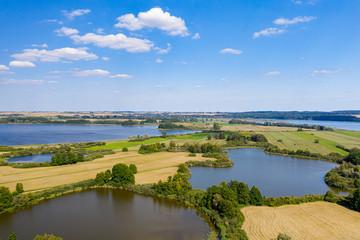 Aussicht auf den Uckersee und die Landschaft der Uckermark