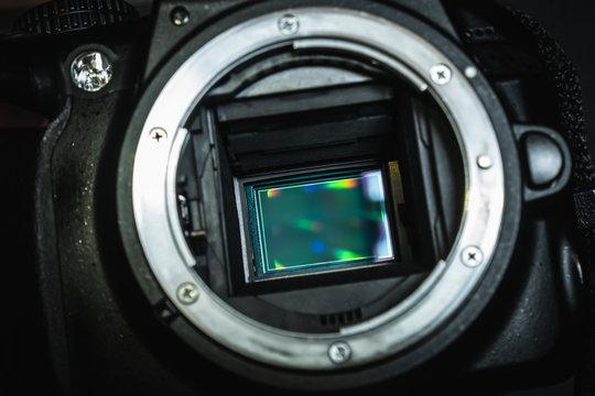 image sensor inside digital camera