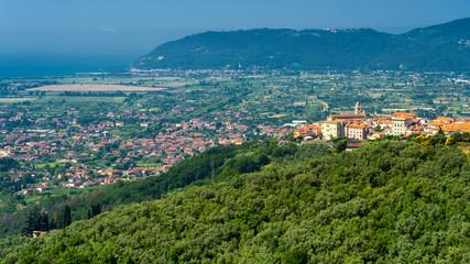 Panoramic view of Castelnuovo Magra, Liguria