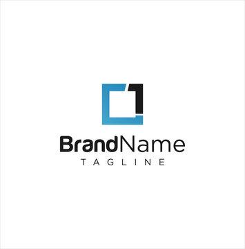 Square One Logo Icon Vector Stock . Square 1 Logo Design Vector Stcok