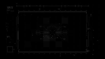 Futuristic user interface design element Video overlay 010