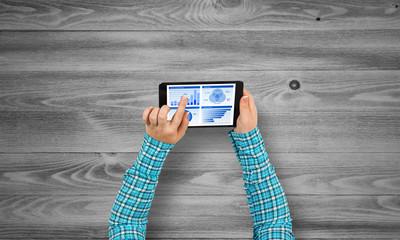 Using financial application