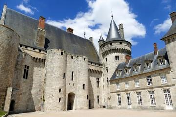 Façade arrière du château de Sully-sur-Loire, Loiret, France