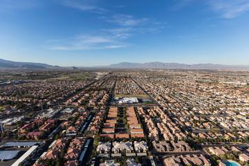 Poster Las Vegas Aerial view of the suburban neighborhoods in fast growing Las Vegas, Nevada.