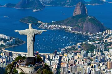 In de dag Rio de Janeiro Aerial view of Rio de Janeiro