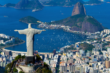 Türaufkleber Brasilien Aerial view of Rio de Janeiro