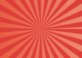 放射状 背景 素材 赤 オレンジ