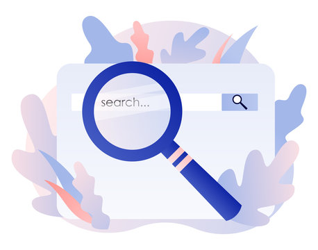 SEO Search Engine Optimization concept set. Flat cartoon style. Vector illustration