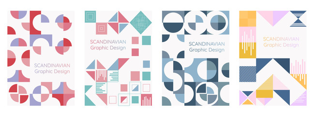 Scandinavian graphic design and geometry modern style. vector illustration