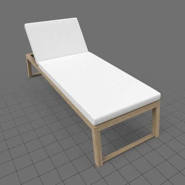 Modern sun lounger